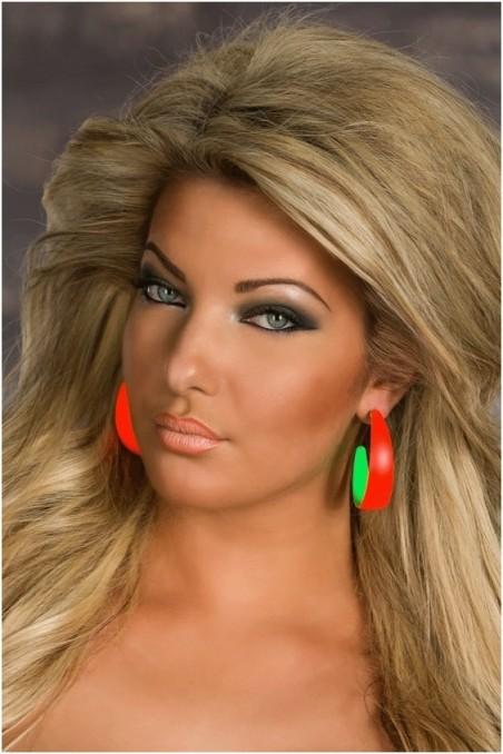 Oranžiniai apvalūs auskarai