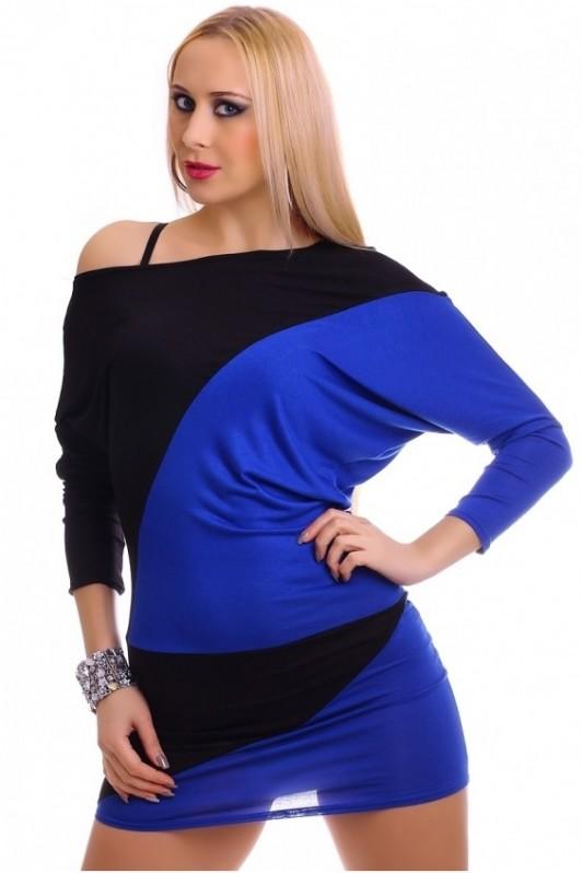 Mėlyna su juoda tunika