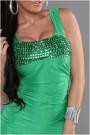 Žalia suknelė be rankovių