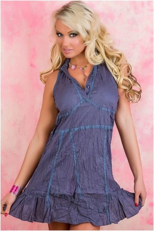 Pilka vasarinė suknelė