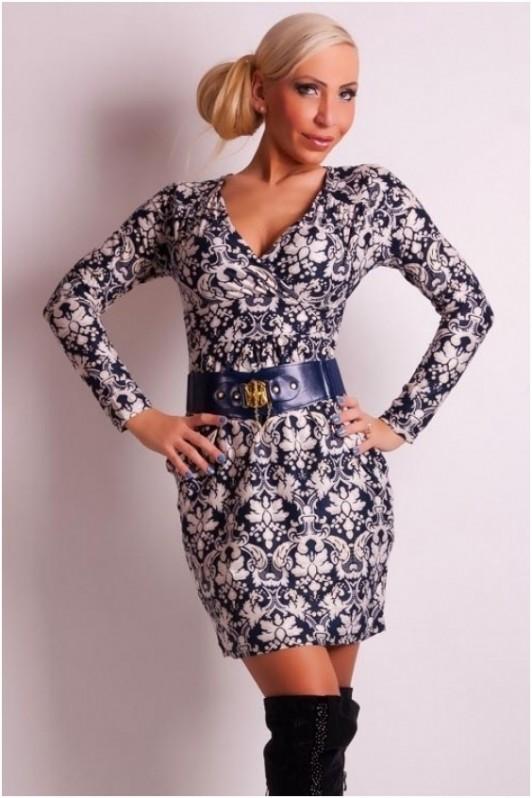 Marga elegantiška suknelė su diržu