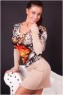 Kremo spalvos suknelė su gėlėm