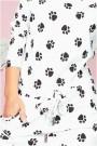 Balta su juoda laisvo stiliaus suknelė