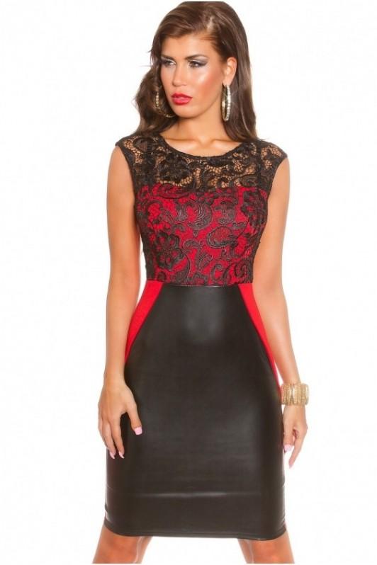 Juoda su raudona suknelė
