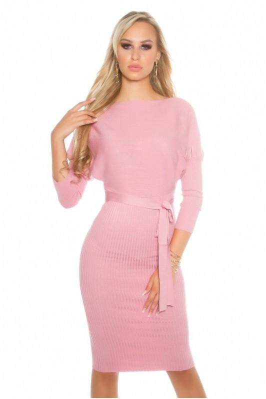 Rožinė elegantiška suknelė