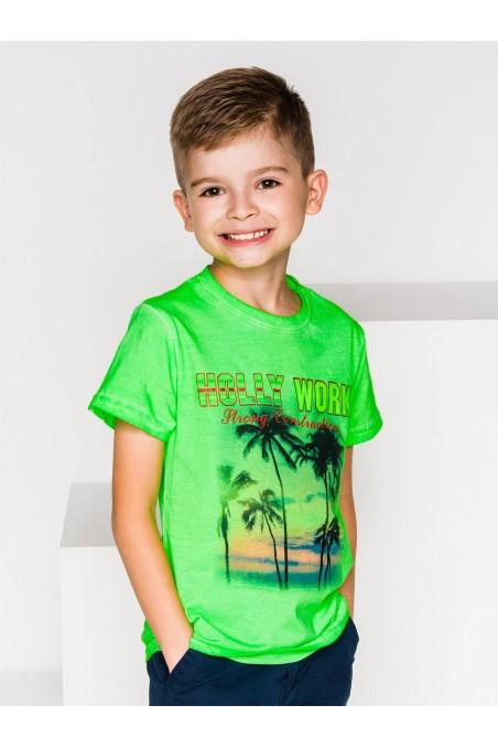 Žali marškinėliai berniukui KS031