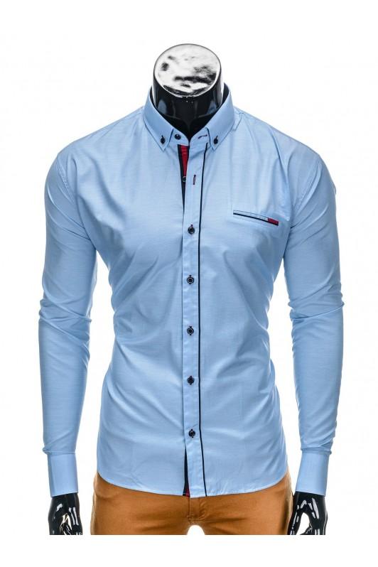 Šviesiai mėlyni vyriški marškiniai K322