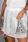 Kremo spalvos trumpas sijonas