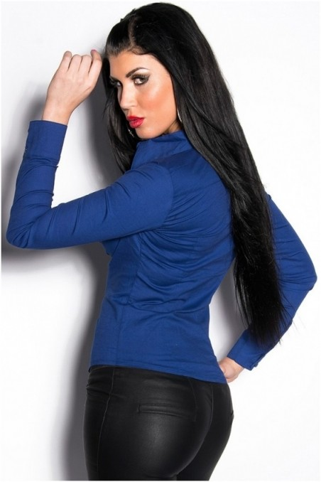 Mėlyni ilgom rankovėm marškinukai