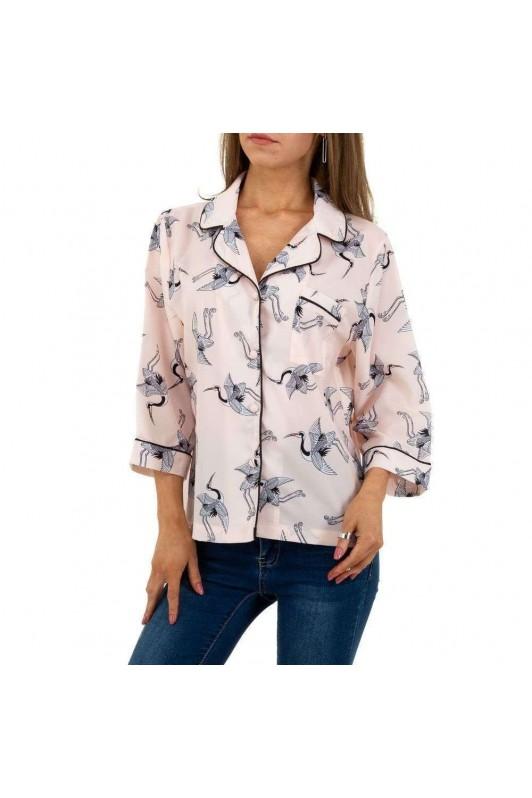 Rožiniai moteriški marškiniai
