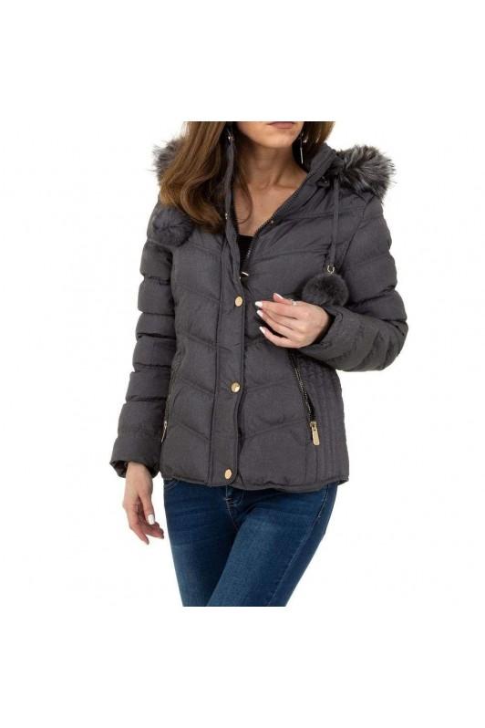Pilka moteriška žieminė striukė