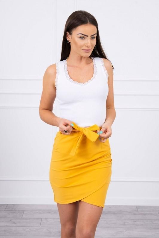 Medaus spalvos trumpas sijonas