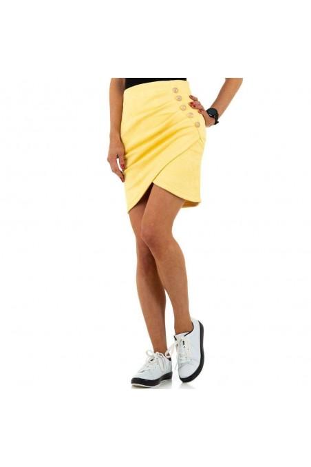 Geltonas trumpas sijonas