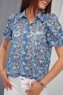 Mėlyni gėlėti marškiniai
