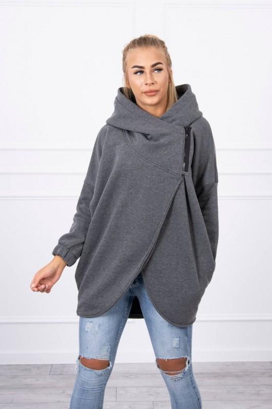 Pilkas stilingas džemperis