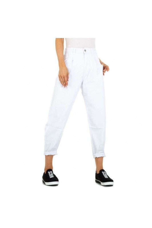 Balti moteriški džinsai