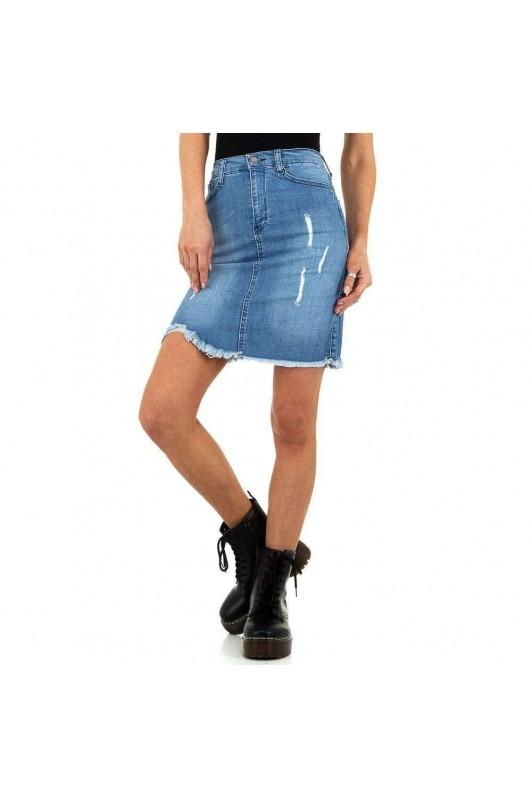 Mėlynas džinsinis sijonas