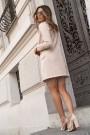 Smėlio spalvos elegantiška suknelė/švarkelis