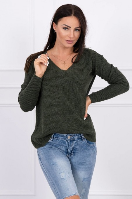 Chaki spalvos megztinis