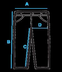 Vyriškų džinsų išmatavimai