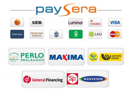 Paysera mokėjimo būdai